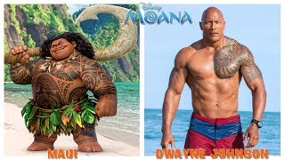 Disney Moana Behind The Voices - Moana Characters in Real Life