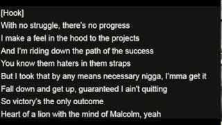 K Boy & Kendrick Lamar - Malcolm X (Lyrics on Screen)