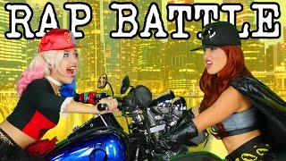 Harley Quinn vs Batgirl Princess Rap Battle DC Girls. Family Friendly from DisneyToysFan