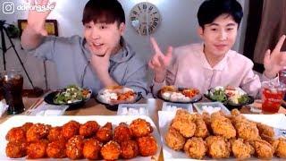 Combo Gà Chiên Giòn Gà Chiên Cay Cùng Anh Em Thánh Ăn Hàn Quốc