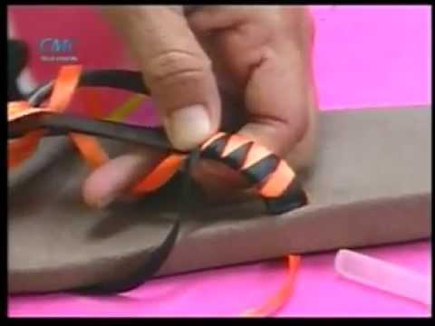 Sandalias decoradas con Cintas