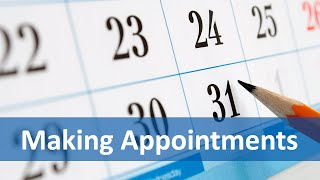 Common Expressions #5 (Making Appointments) |  English Listening & Speaking Practice