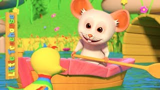 Row Row Row Your Boat   Kindergarten Nursery Rhymes for Children   Kids Cartoons by Little Treehouse
