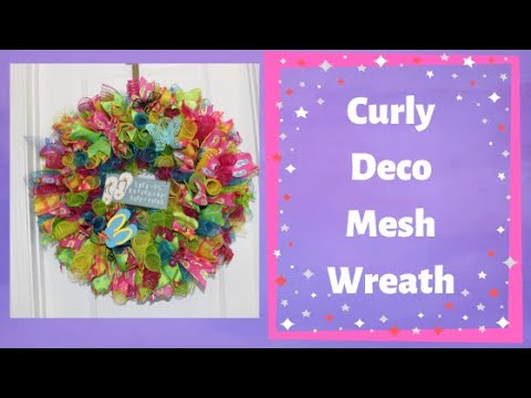How to make a summer curly deco mesh wreath