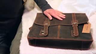 TOP BAG®Men Leather Laptop Bag Briefcase Messenger Bag Review