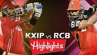 IPL T20: KXIP vs RCB - 9th May 2016 | Match Highlights | Punjab vs Bangalore