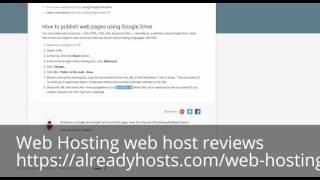 web host reviews