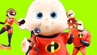 Huge Incredibles 2 Toy Collection With Mr. Incredible + Hulk Plays Jack Jack Surprise Passing Game