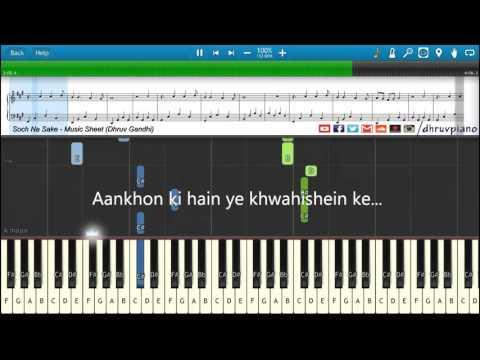 Xxx Mp4 ♫ Soch Na Sake AIRLIFT Piano Tutorial Music Sheet MIDI With Lyrics 3gp Sex