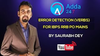 IBPS RRB PO MAIN -  Error Detection - VERBS