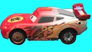 Disney Pixar Cars: Toko Cat Ramone Lightning McQueen Carbon Dragon Silver Color Leaning