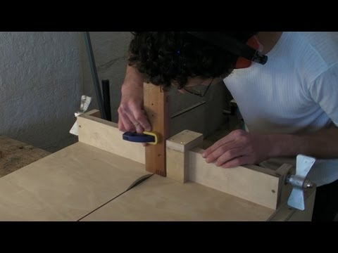 Homemade Table Saw Sledge Part 3 Lead Screw Fence Stop & Finger Comb Joints Jig
