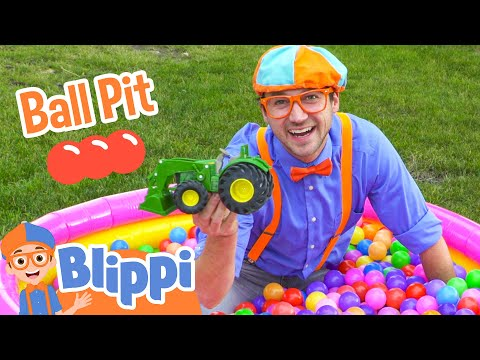Ball Pit with Blippi Colorful Surprise Educational Videos for Kids