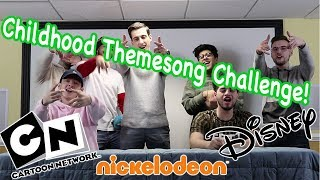 CHILDHOOD THEME SONG CHALLENGE (Disney, Cartoon Network, Nickelodeon)