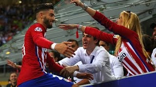 Yannick Carrasco celebrates his goal with a kiss