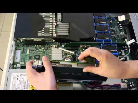 1U Server with 2x Quad-Core CPU, 64GB RAM, SSD and Quadro 4000