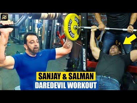 Sanjay Dutt & Salman Khan Gym Body Building Workout After Release From Jail