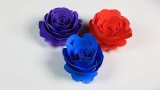 দুই মিনিটে গোলাপ ফুল বানানোর পদ্ধতি! How to make a paper rose within two minutes!