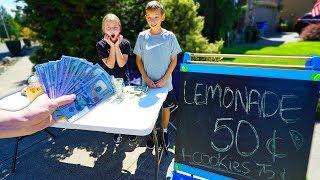 Giving Kid $10,000 If The Lemonade Is Good