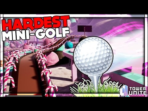 THE IMPOSSIBLE GOLF COURSE CANDY LAND & HOLE IN ONE Golf With Friends Tower Unite Mini Golf