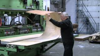 Bending Plywood using Patented Bend-A-Ply Method