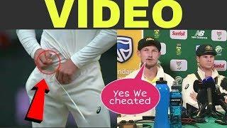 steve smith david warner ban  ball tampering cheating video highlights