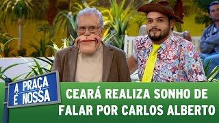 Matheus Ceará realiza sonho de falar por Carlos Alberto   A Praça É Nossa (11/05/17)