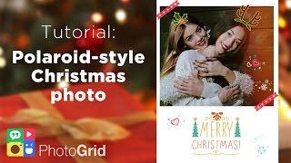 Tutorial: Custom Polaroid-style Christmas Holiday Photo Card