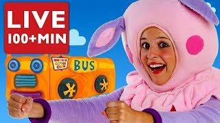Wheels on the Bus LIVE | Nursery Rhymes by Mother Goose Club | Kid Songs | #Baby Songs #NurseryRhyme