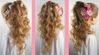 Coiffure bouclée Mariage Cascade boucles   Wedding curly hairstyle   Peinado con bucles para Boda
