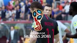 World Cup 2018 Finals France vs Croatia Full Match Sim (FIFA 18)