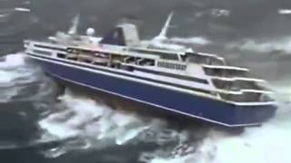 Cruise Ship Caught in a Hurricane