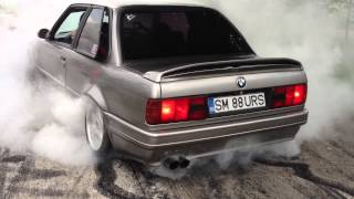 BMW E30 V8 BURNOUT! BMW E30 Meeting!