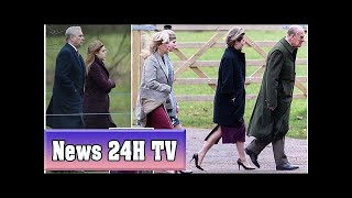 Crowds line the streets of sandringham to see royal family | News 24H TV