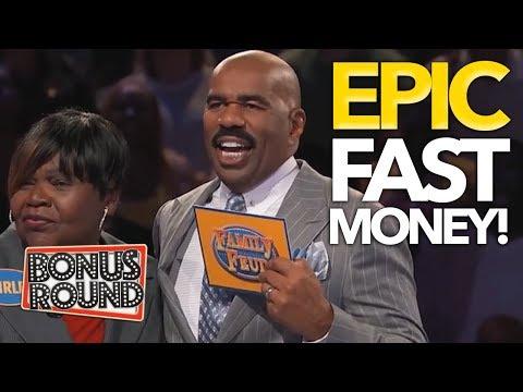5 HIGHEST FAMILY FEUD USA Steve Harvey's Fast Money Scores WOW Bonus Round