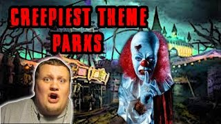 5 Creepiest Abandoned Theme Parks REACTION!!!