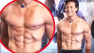 Tiger Shroff Goes SHIRTLESS at Heropanti Press Conference