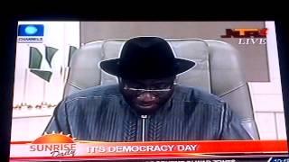Jonathan's Democracy Day Speech.