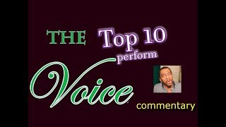The Voice 2018 Top 10 perform (commentary)