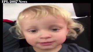 Ab De Villiers Cute Son Saying RCB And Playing Cricket in Stadium IPL 10 2017