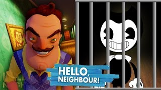 HELLO NEIGHBOUR TAKES BENDY! - Minecraft Hello Neighbour