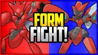 Scizor vs Mega Scizor | Pokémon Form Fight