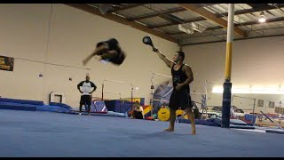 MARTIAL ARTS TRICKING ACROBATICS FLIPPING TRAINING GYM SESSION