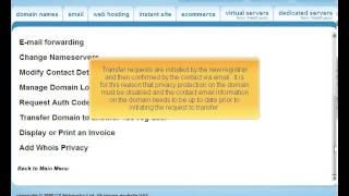 123reg.co.uk Preparing a domain for transfer
