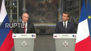 France: Macron accuses RT and Sputnik of 'deceitful propaganda' in presser with Putin