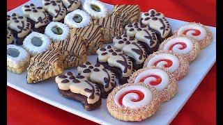 حلويات العيد/صابلي بريستيج باربعة اشكال وبنكهات مختلفة من نفس العجين اقتصادية وبكمية كثيييرة