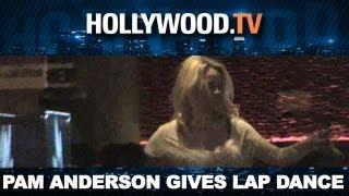 Pamela Anderson gives HOT lap dance!  Hollywood.TV