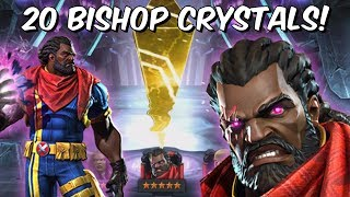 20x 5 Star Bishop Grandmaster Featured Crystal Opening! - Marvel Contest Of Champions
