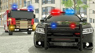 Fire Truck Frank Learn to Help - Wheel City Heroes (WCH) - Sergeant Lucas the Police Car New Cartoon