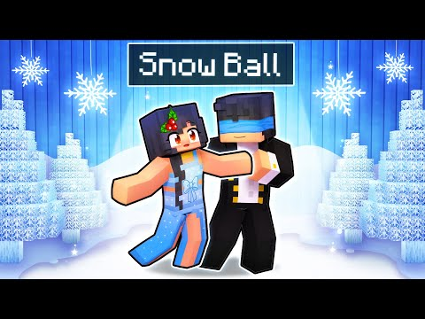 Our First SNOW BALL Dance In Minecraft